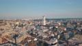 Aerial City Lviv, Ukraine. European City. Popular areas of the city. Town Hall 56749913