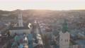 Aerial City Lviv, Ukraine. European City. Popular areas of the city. Town Hall 56749914