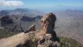 Aerial of Nublo Rock in caldera of Tejeda, Gran Canaria 56778563