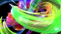Abstract transparent ribbons in motion as seamless creative background. Colorful stripes twist in a 56814244