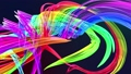 Abstract transparent ribbons in motion as seamless creative background. Colorful stripes twist in a 56814266