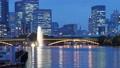 大阪 八軒家浜から見る夕暮れの天神橋とビル群(タイムラプス) 56818257