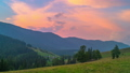 The Mountain Forest on Background of Sunset 56851582