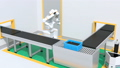 自律に作業場に入りモータを組み立てる双腕ロボットのアニメーション。協働ロボットのコンセプト 56871674