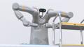 モータを組み立てている双腕ロボットのアニメーション。協働ロボットのコンセプト 56871675