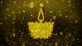 Religious symbol Ayyavazhi symbolism Icon Golden Glitter Shine Particles. 56929290