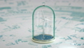 Windmill in sea under glass bulb on water . 3D FullHD 56978172