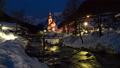 Night hyper lapse of famous church in Ramsau, Germany 57038881