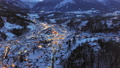 Evening aerial of Berchtesgaden at winter, Bavaria, Germany 57043800