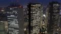 東京ナイト 新宿高層ビル群 トワイライト タイムラプス ティルトダウン 57043918