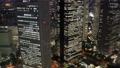 東京ナイト 新宿高層ビル群 トワイライト タイムラプス ズームアウト 57043921
