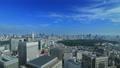 東京ランドスケイプ 青空の大都市 タイムラプス ズームイン 57045813