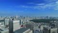 東京ランドスケイプ 青空の大都市 タイムラプス パン 57045814