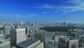 東京ランドスケイプ 青空の大都市 タイムラプス ズームアウト 57045815