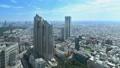 東京ランドスケイプ 新宿高層ビル街 明治神宮 タイムラプス パン 57046444