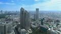 東京ランドスケイプ 新宿高層ビル街 明治神宮 タイムラプス ズームアウト 57046447