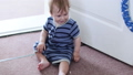 Baby crawling on the floor 57151122