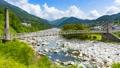 国の重要文化財 桃介橋、長野県木曽郡南木曽町にて 57199395