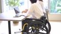 Wheelchair business man desk work faceless 57287262