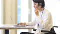 Wheelchair business man deskwork operator 57287291