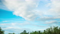 Motion of white clouds on the blue sky in countryside of Thailand. 57434260