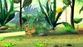 Ant pulls a stem of grass  57470241