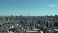 東京スカイツリーと晴天の東京の街並み 俯瞰 フィックス (2019年4月 撮影) 57717492