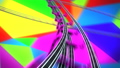 Moving Through the Abstract Space with Flashing Colored Facets on Roller-Coaster Extremely Fast 57726622