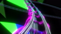 Psychedelic Riding on Rollercoaster Through Abstract Space with Flashing Colors Seamless. Looped 3d 57726623