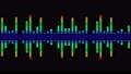 소리 음성 단순 파형 무지개색 디지털 다채로운 루프 57773824