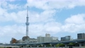 Tokyo sightseeing spot Sky Tree and Clouds 4K compatible 57814657
