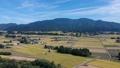 秋の田園風景 空撮 秋田県 58110248