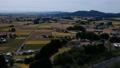 秋の田園風景 空撮 秋田県 58110249