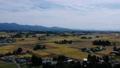 秋の田園風景 空撮 秋田県 58110250