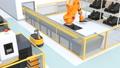 AGV無人搬送車、マシニングセンタ、大型産業ロボットがあるスマート工場 58233173