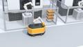 AGV無人搬送車、マシニングセンタ、大型産業ロボットがあるスマート工場 58233174