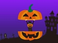 Halloween family appearance from pumpkin with background 58626602