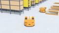 物流センターに仕分けを行うAMR自律型協働ロボットのアニメーション 58686024