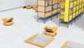 物流センターに仕分けを行うAMR自律型協働ロボットのアニメーション 58686025