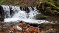 Close-up of a waterfall in a autumn forest 58741191