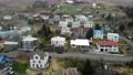 アイスランド 町 空撮 58800379
