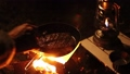 キャンプ 焚火 肉 58988500