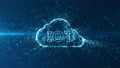 Cloud computing and Big data concept. Technology connectivity of digital data and futuristic information. Abstract hi speed internet of internet of things IOT  big data cloud computing . 58988870