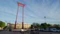 Timelapse view of Giant Swing (Sao Ching Cha) landmark of Bangkok old town 59065864