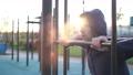 Fit mature caucasian man exercising at park 59385349