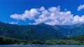タイムラプス 長野 上高地 穂高 穂高岳 山 昼 川 高原 山林 北アルプス 大正池 池 湖 4k 59610733