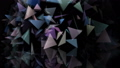 abstract geometric shapes triangles move on a black background. 59680449