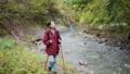 Trekking female mountain girl mountaineering outdoor image 59722137