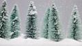 Christmas fir trees at snowfall 59871702