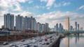 Clear sky, Seoul cityscape, 4K 59986095